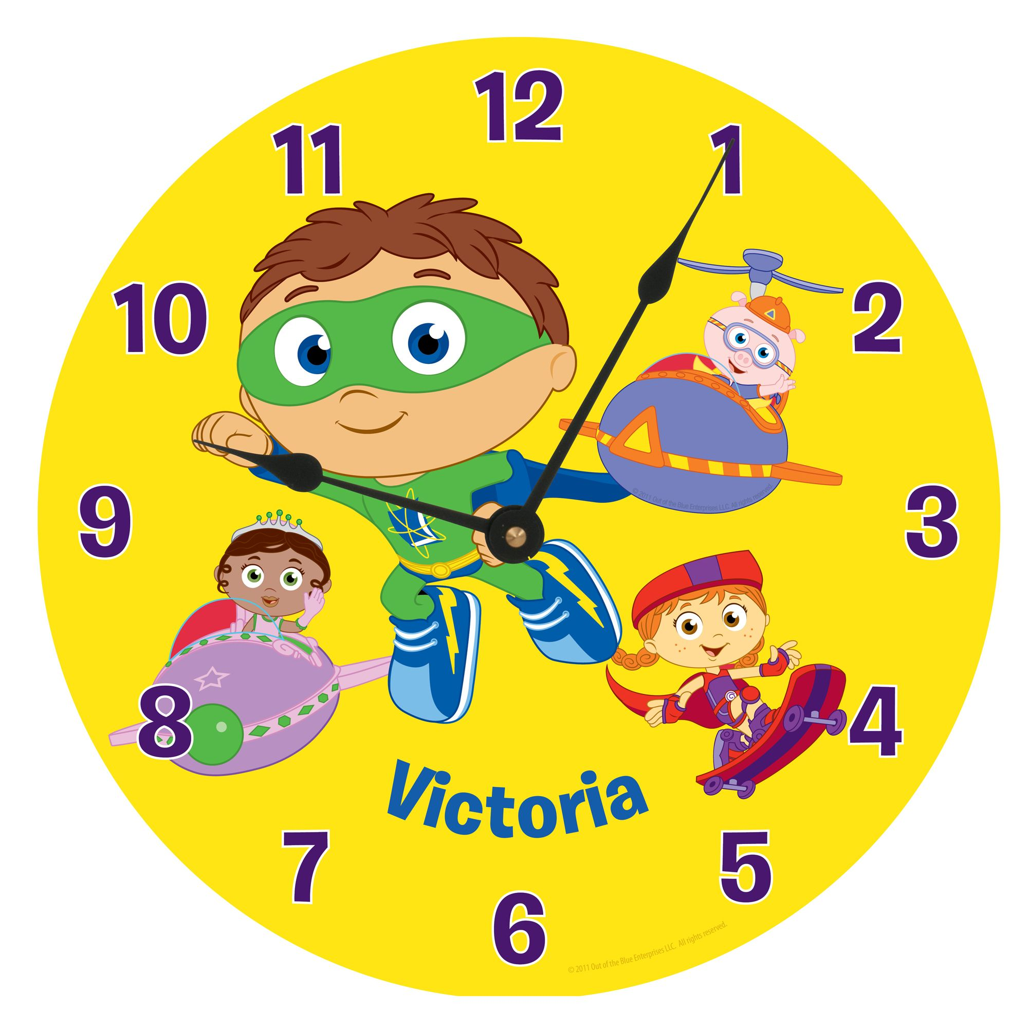 Super Why! Reading Time Wall Clock | Reading time