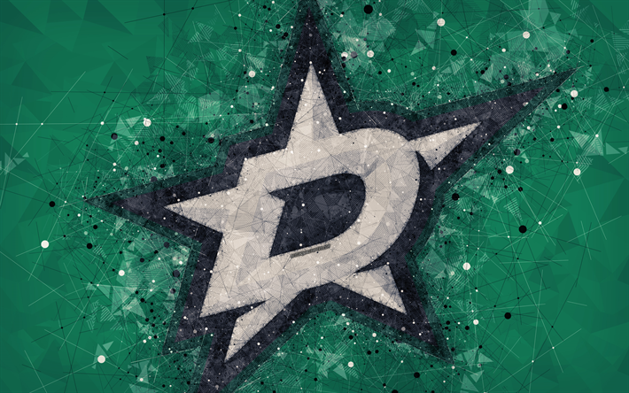 Download Wallpapers Dallas Stars 4k American Hockey Club Creative Art Logo Creative Geometric Art Emblem Nhl Green Abstract Background Dallas Texas U American Hockey Dallas Stars Dallas Stars Hockey