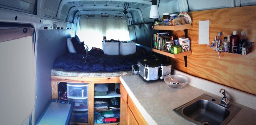 The Interior Of 2005 Dodge Sprinter Adventure Van Lived In For 365 Days Road Life