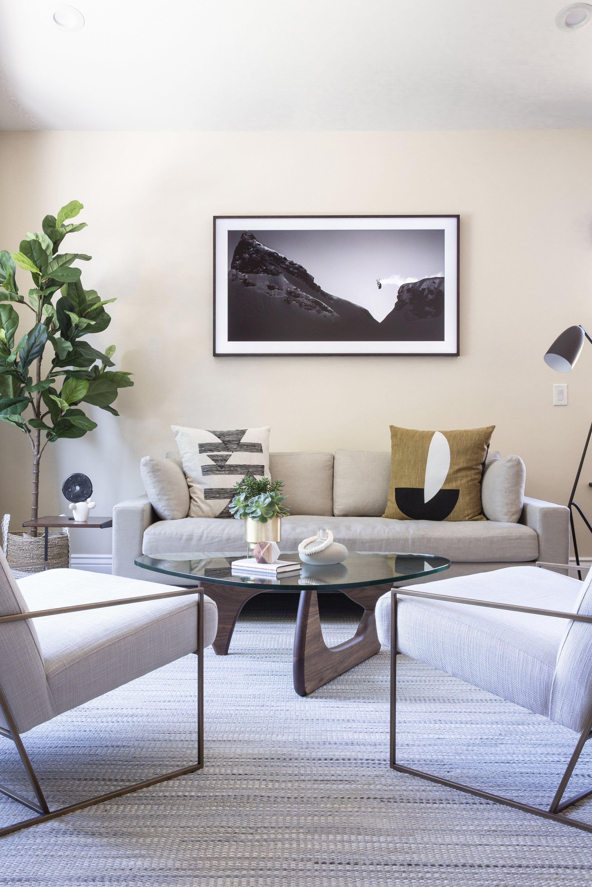 Fabulous Modern Living Room Samsung Frame Tv Metal Armchairs Theyellowbook Wood Chair Design Ideas Theyellowbookinfo