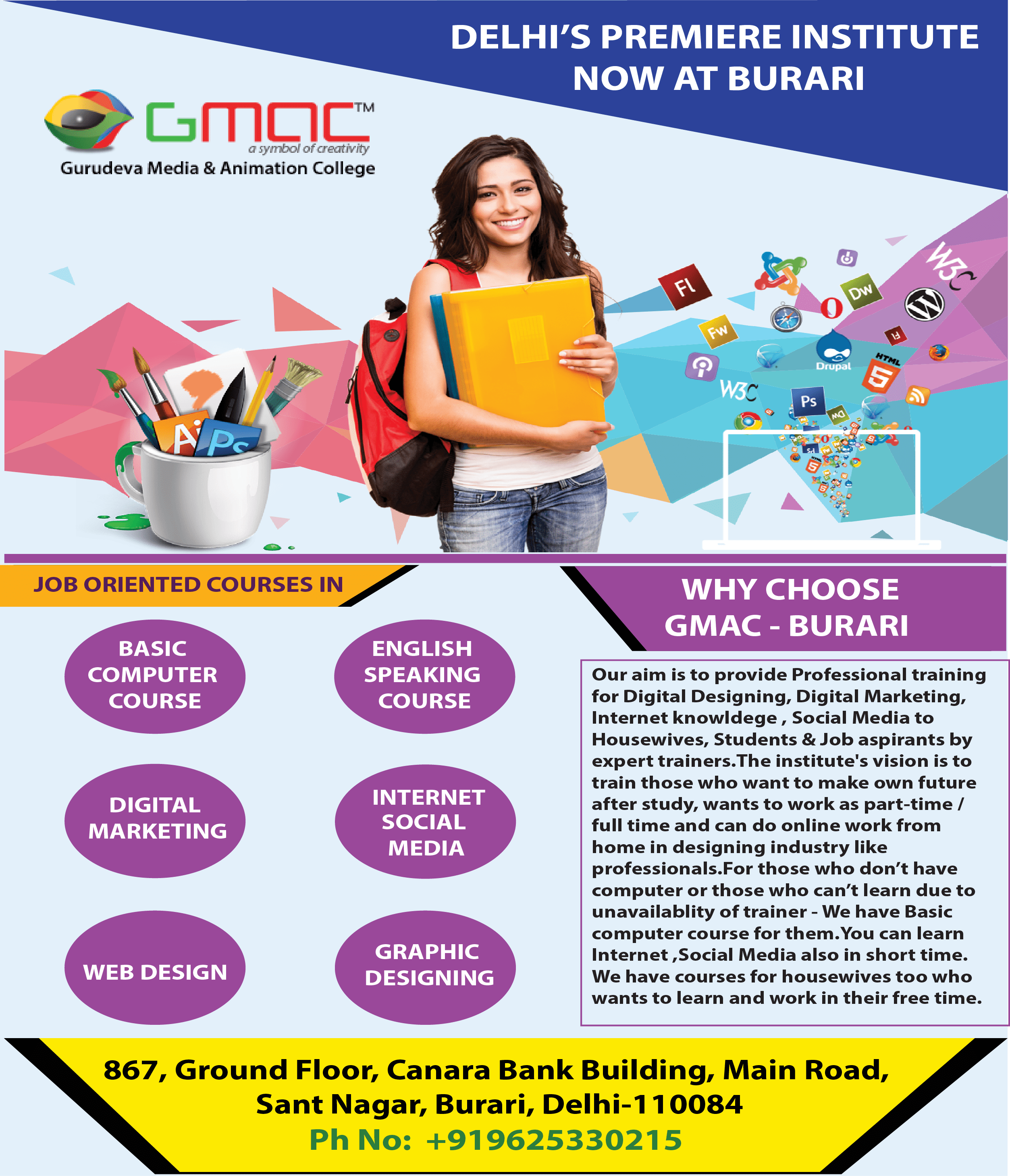 Here Is The Top 10 Graphic Designing Course In Delhi Offers Highly Creative And Advanced Tra Web Design Training Website Design Courses Graphic Design Course
