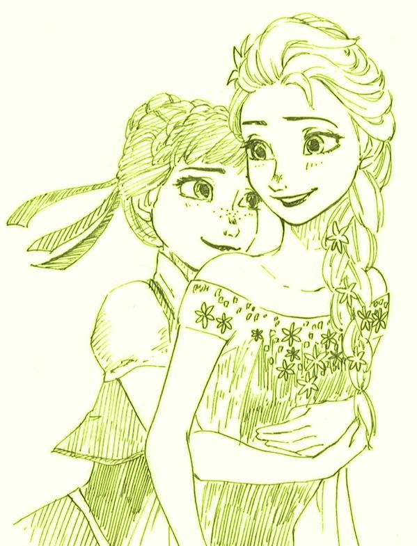 esa sketches frozen anna and sisters - photo #40