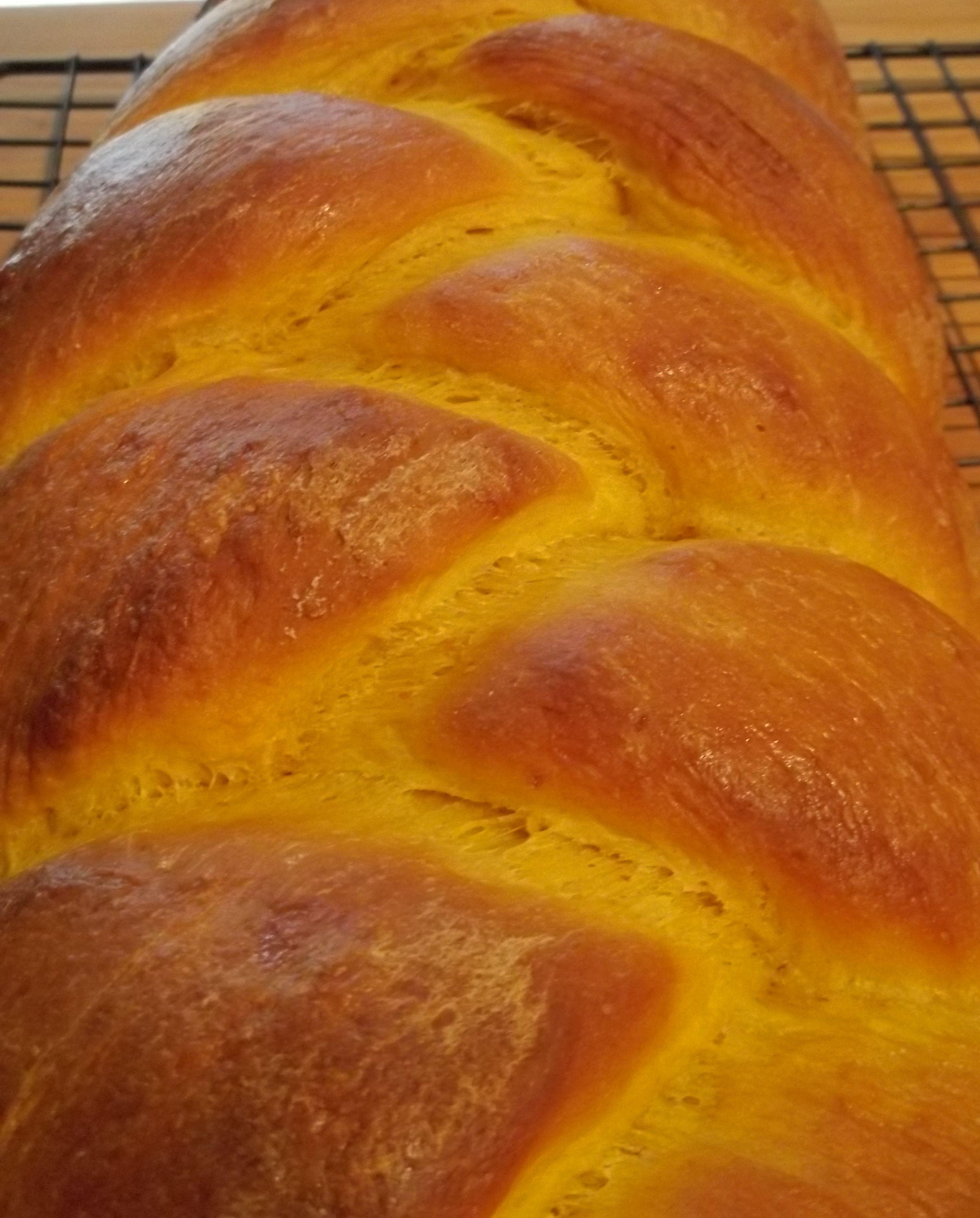 Pumpkin challah bread, Thanksgiving 2013
