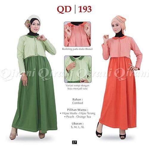 Jual Beli Baju Gamis Qirani Gamis Model Q193 Hj Muda Hijau Terang