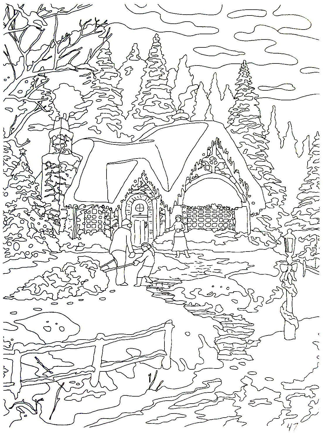 Thomas Kinkade Coloring Book Best Of Country Christmas Home Ing Thomas Kinkade Painting Coloring Book Coloring Books Coloring Pages Christmas Coloring Pages