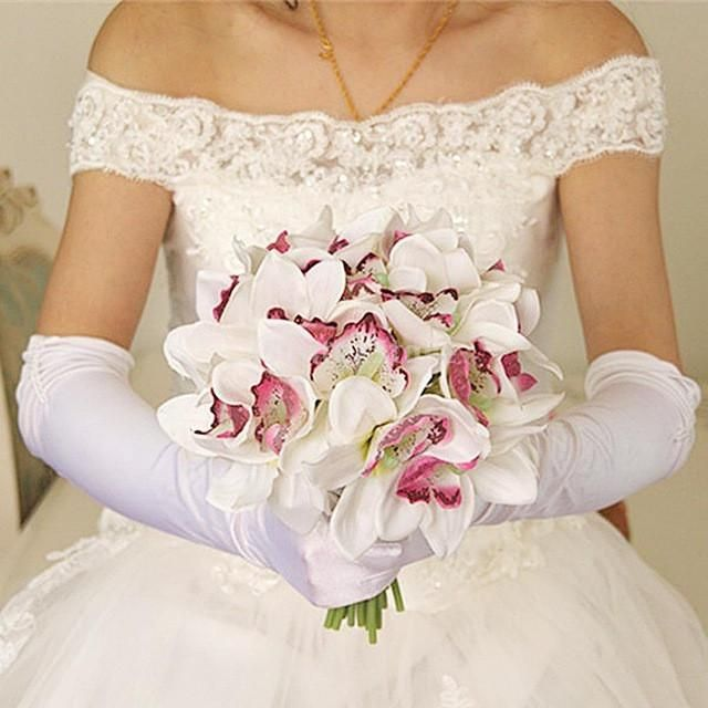 Artificial Silk Butterfly Orchid Bridal Bridesmaid Flower Girl Bouquet Wedding Party Home Table Decor 8 Colors Pick