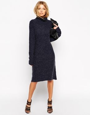 7aaaeffa709f This navy jumper dress looks so comfy. Wear it with black stocking and  boots here for winter. Find it here  http   asos.do gEJmak