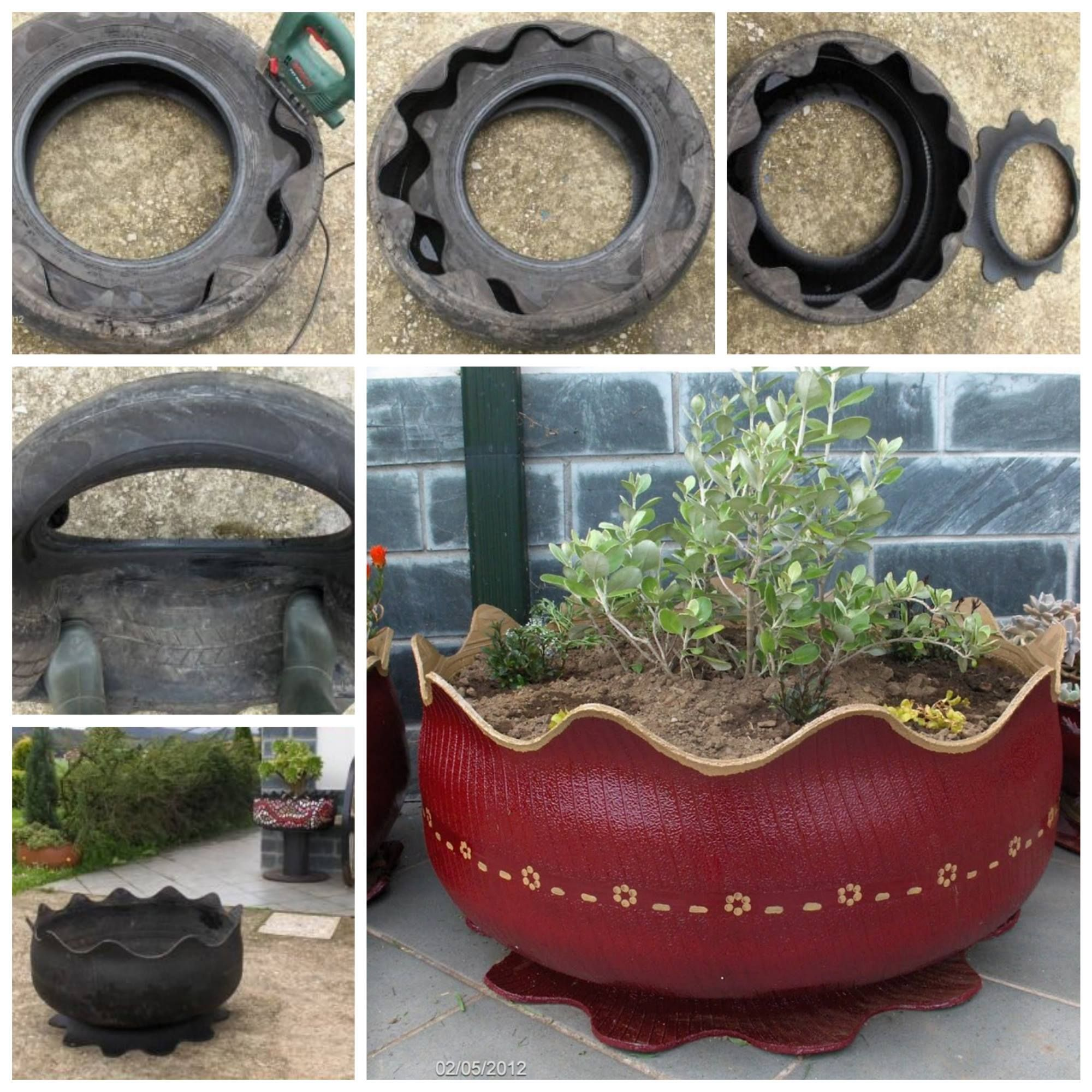 Garden Ideas With Tires pintiina arnberg on puutarha | pinterest | easy diy, planters
