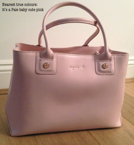 dabb379435 **Excellent Cond** French Designer Agnes B Light Pink Leather Handbag  RRP£300 | eBay
