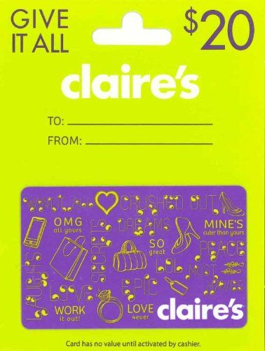 Gigantic Collection Of Gift Ideas For Tween Girls Claire S Gift Card Birthday Gifts For Teens Tween Girl Gifts Gift Card