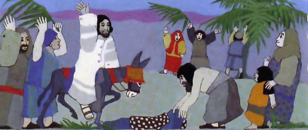 In jesus jerusalem einzug Matthäus 21