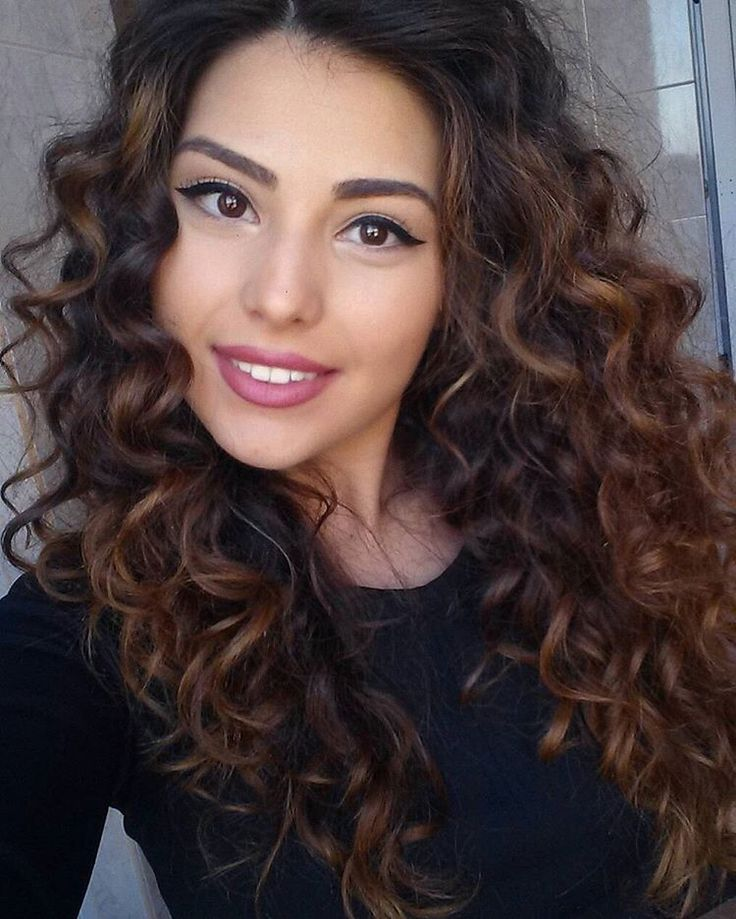 Image Result For Highlights For Indian Curly Hair Haircuts In 2018