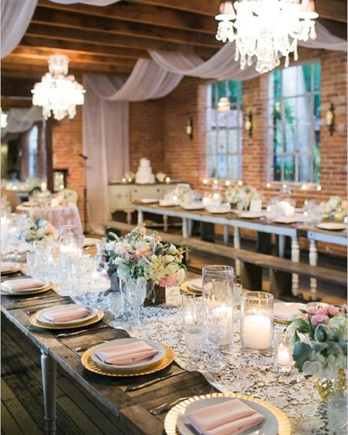 Romantic Wedding reception inspiration | Rustic elegant wedding reception ideas