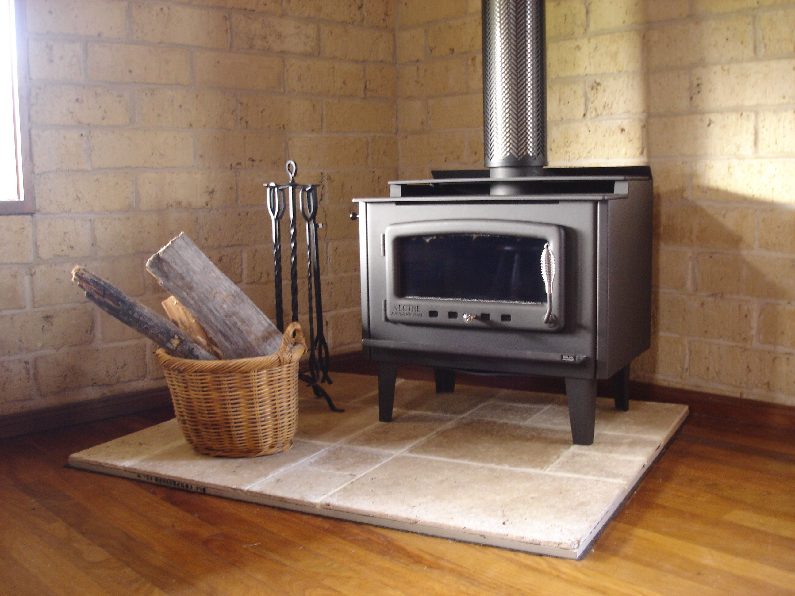 this is our fireplace installed i made the hearth with stone