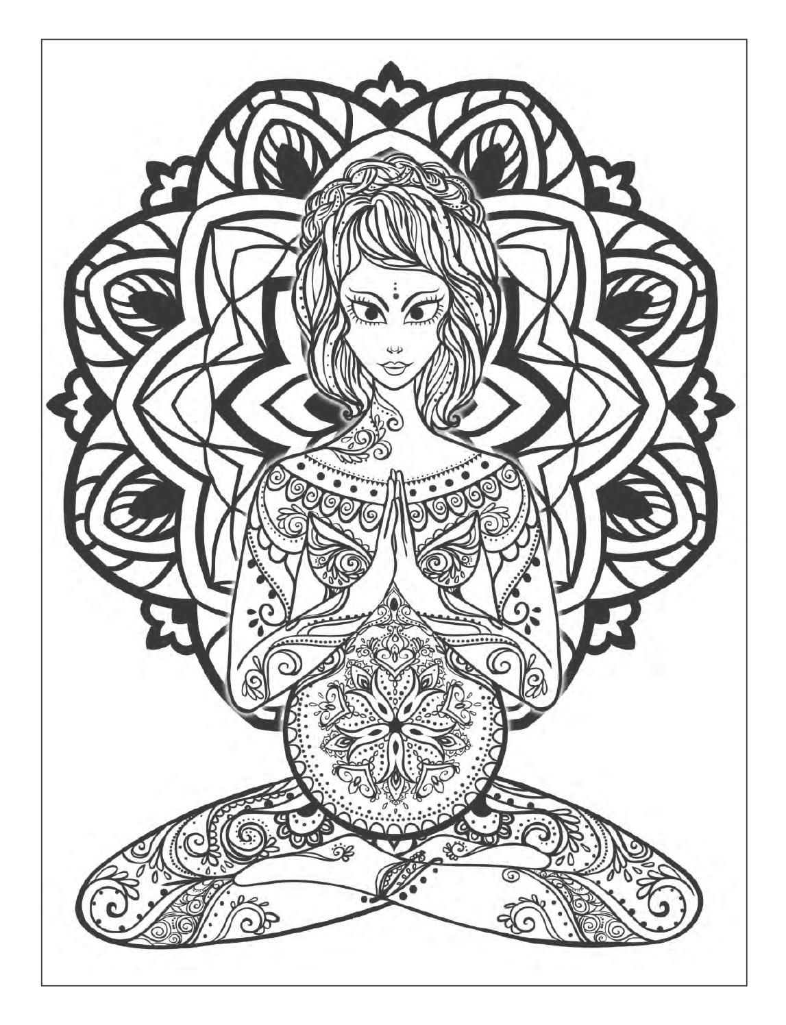Yoga And Meditation Coloring Book For Adults With Yoga Poses And Mandalas Mandala Coloring Books Coloring Books Coloring Pages [ 1496 x 1147 Pixel ]