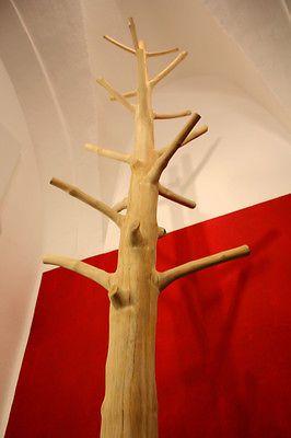 Garderobe Baum Kleiderstnder Flurmbel Kleiderhaken Hutstnder Holz massiv NEU 3  tinker