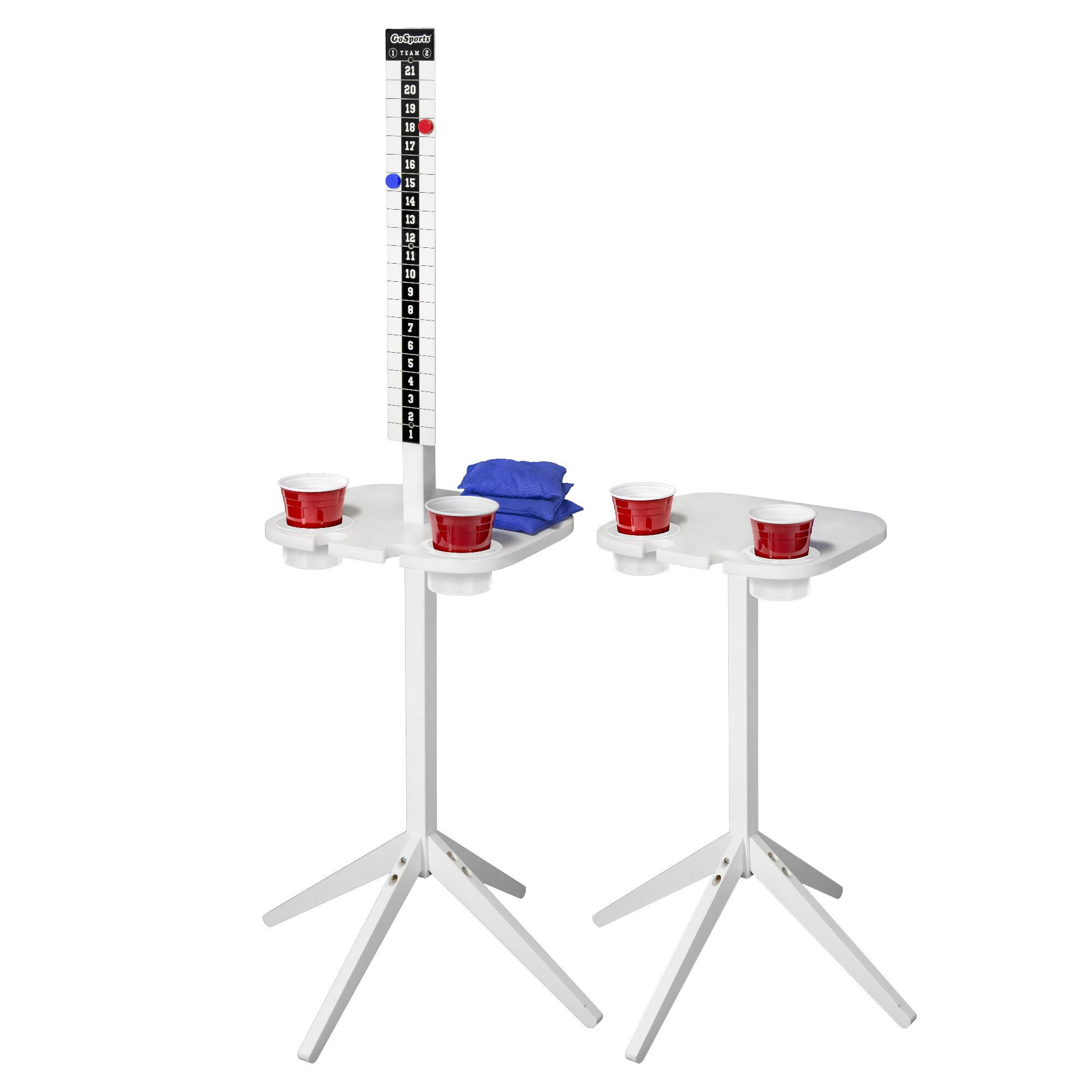 Score Caddy Portable Beer Pong Table Drink stand, Beer