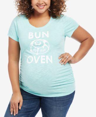 Motherhood Maternity Plus Size Graphic T-Shirt | macys.com