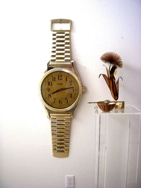 Huge Vintage Wrist Watch Wall Clock 3 1 2 Foot Tall