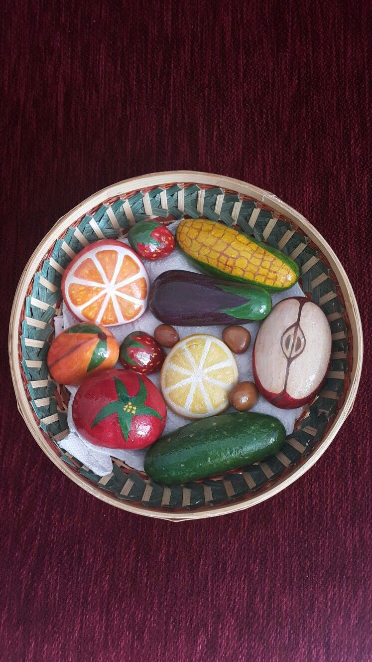 Tas Boyama Meyve Sepeti Meyve Taslar Sepetler