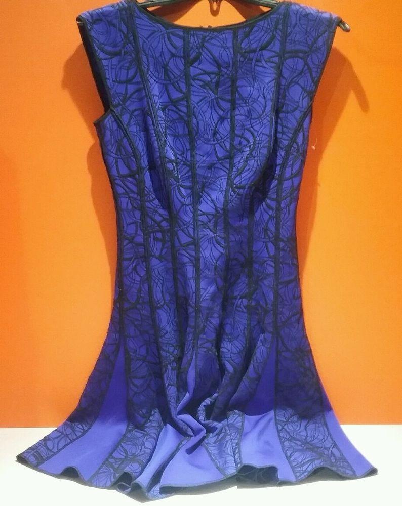 Tadashi Shoji | Embroidered Neoprene Fit & Flare Dress | Size S ...