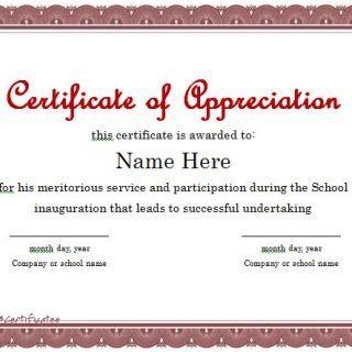 Certificate Of Appreciation 01 Certificado
