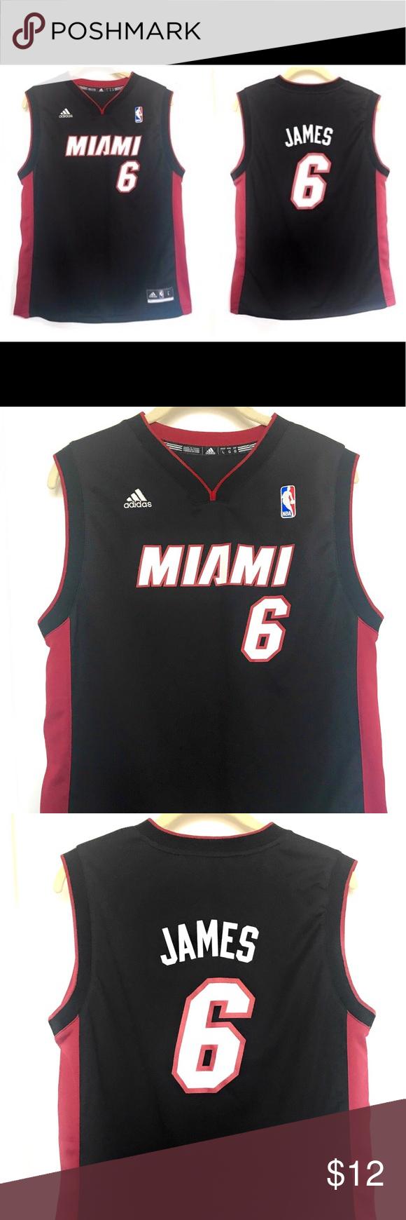 Miami Heat Lebron James Boys Jersey Lebron James Kids Adidas Shirt Lebron James