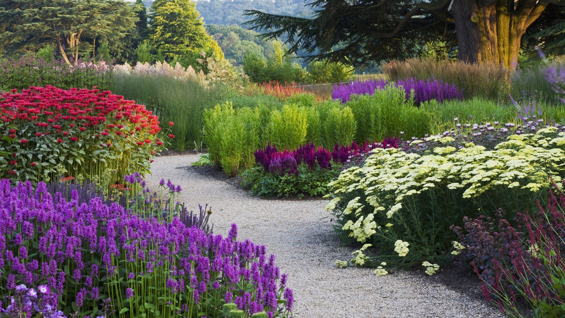 Flower Garden Path beautiful wallpapers of flower gardens - hd photos gallery