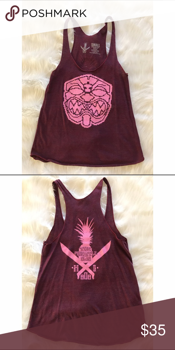 FMHI THE PINEAPPLE CLAN PIXELATED TANK ♡ 100% AUTHENTIC. ♡ WORN ONCE OR TWICE. ♡ NO DEFECTS + DAMAGES. ♡ HAWAII BRAND: FARMERS MARKET HAWAII. FARMERS MARKET HAWAII Tops Tank Tops