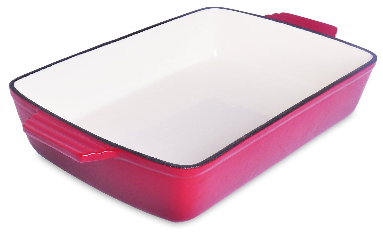 Spiceberry Home Cast-Iron Enamel Casserole, 13 x 9', Red -- You can find out more details at the link of the image.