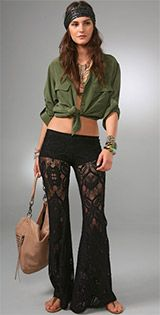31ba75221da15 Will you give lace bellbottoms a whirl  in 2019