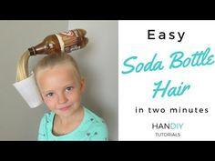 Easy Soda Bottle Hair Tutorial: Crazy Hair Day!