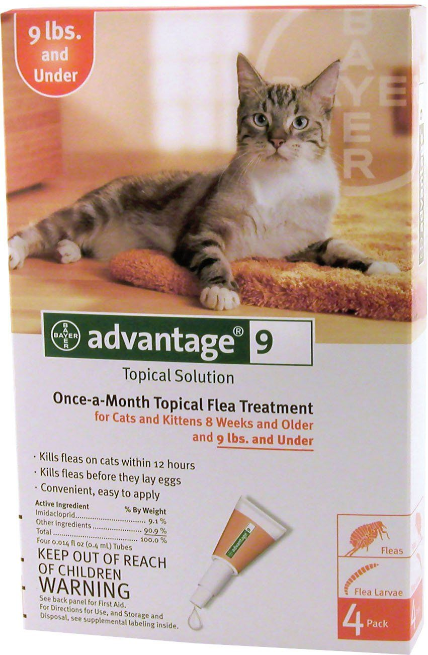 Advantage Ii For Cats Li Kills Fleas Within 12 Hours Of