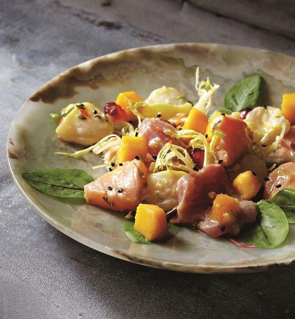 recipe: tuna mango ceviche [7]