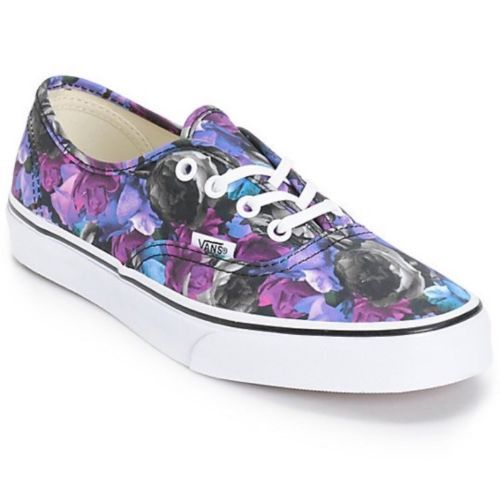 944c0d0519 N VANS Mens 4 Womens 5.5 Authentic Digi Floral Multi True White Sneakers  Purple