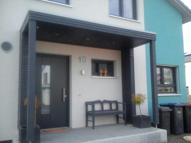 Überdachter Eingang Vordach Haustür Vordach Hauseingang