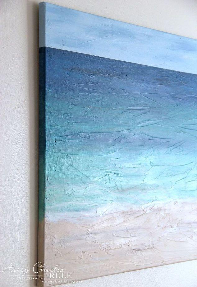 Easy Diy Beach Painting Beach Scene Painting Beach Canvas