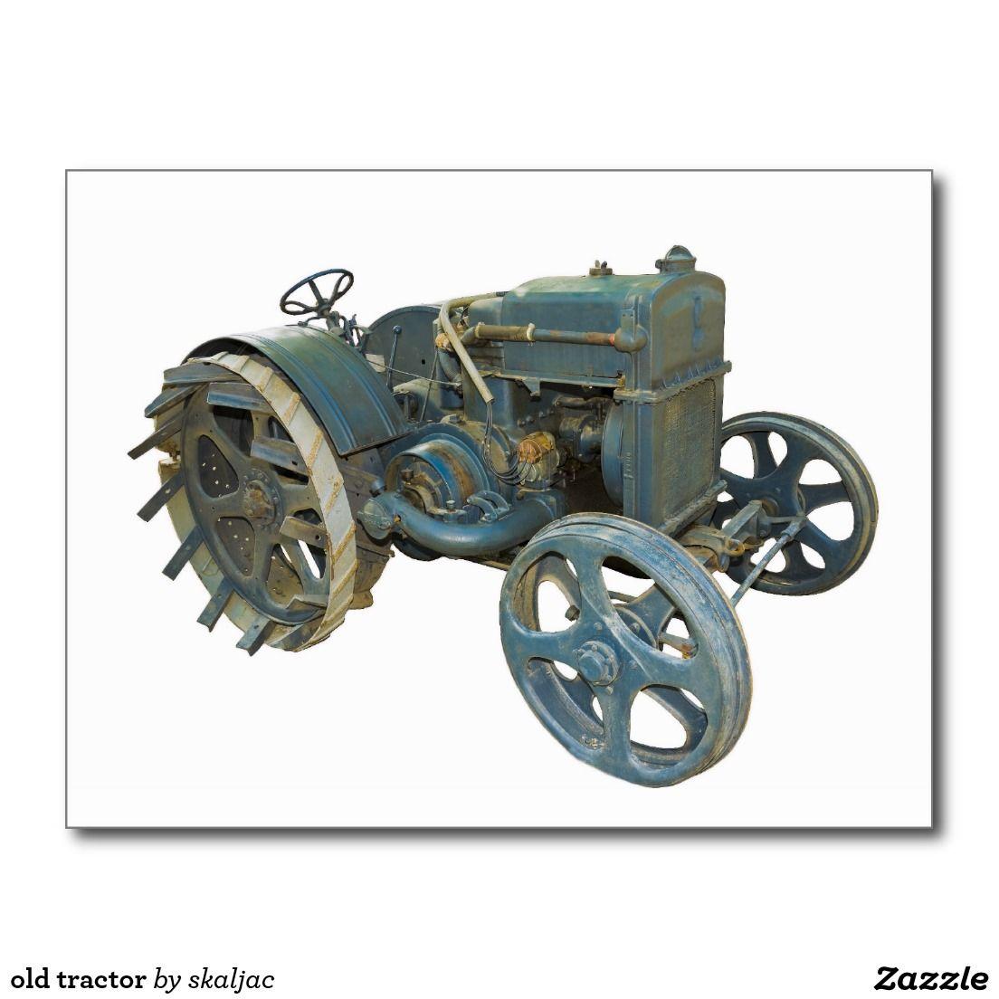 old tractor postcard Tractors