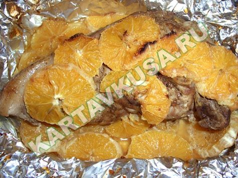 мясо с апельсинами рецепт с фото