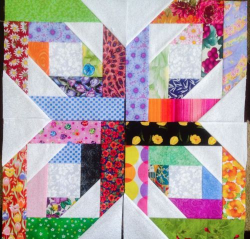 scrappy bright stars quilt blocks  part 2 of 4 pics