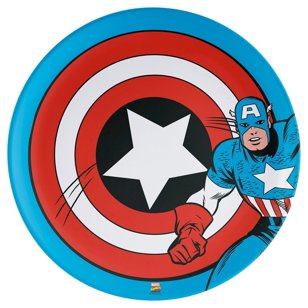 Captain America Dinner Plate 10 Melamine Red Captain America Captain America Figure Zak Designs