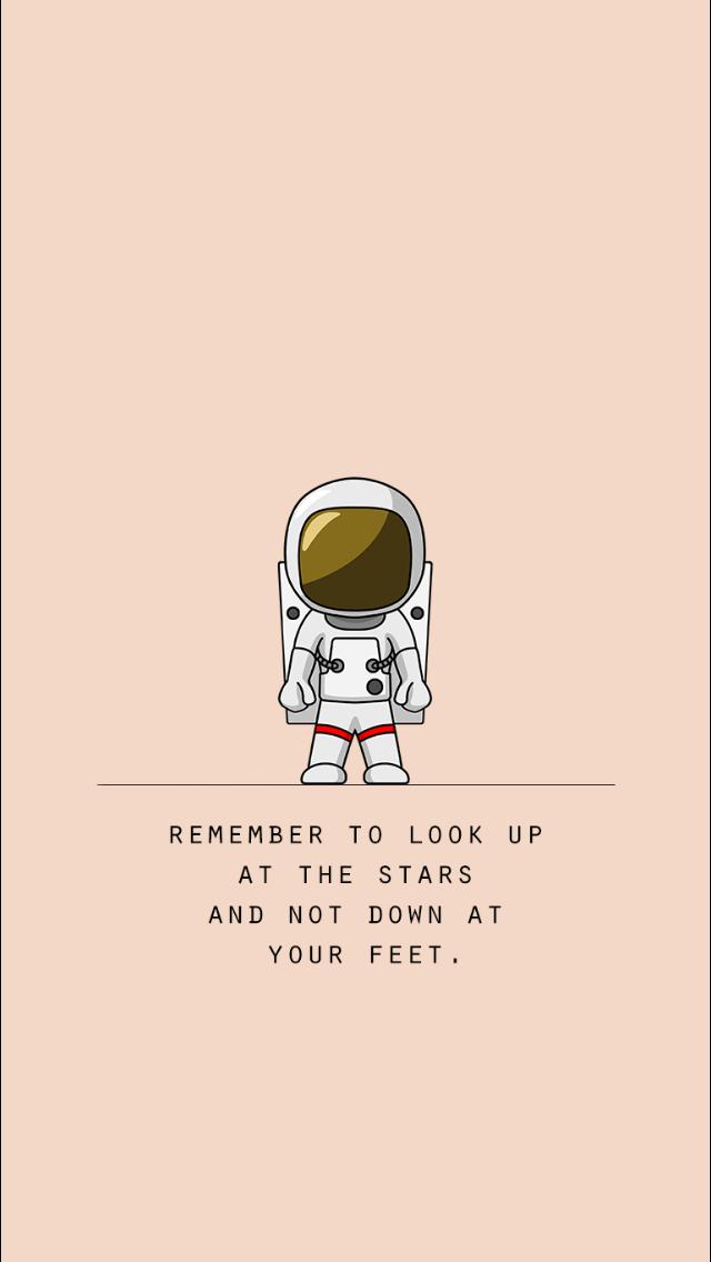 Lembre Se De Olhar Para As Estrelas E Não Para Baixo Aos