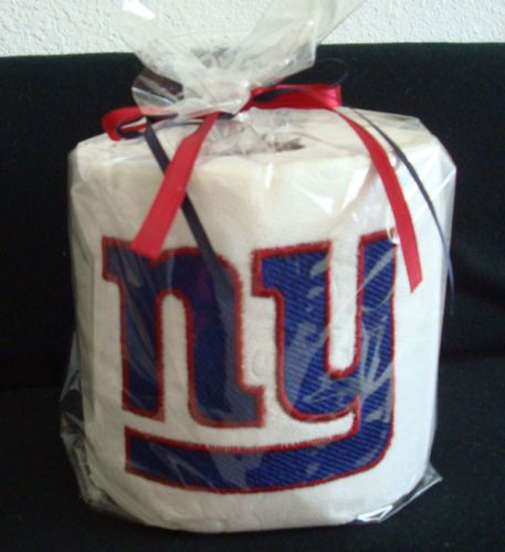 7541f305985 New York Giants toilet paper for our Dallas Cowboys bathroom  Its  embroidered though