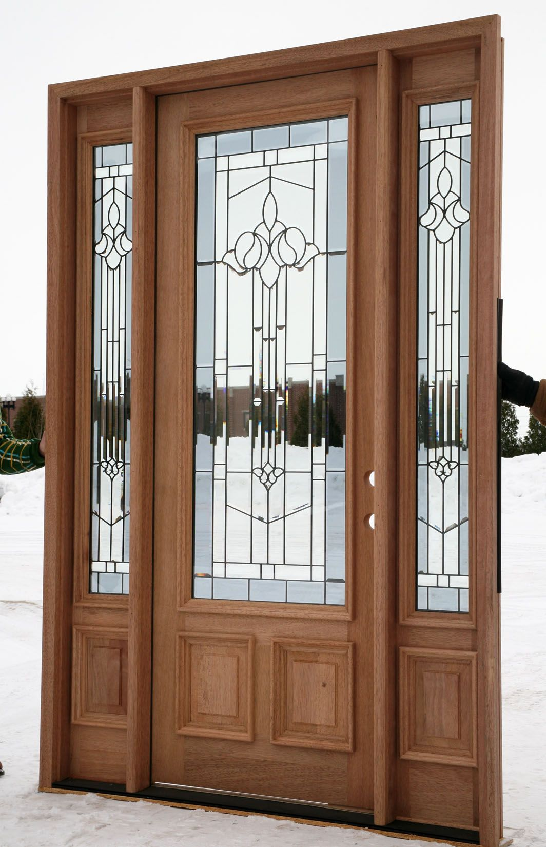 Double entry doors with sidelights - Find This Pin And More On Doors Entry Doors With Sidelights