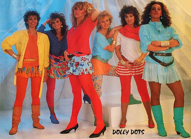 Dolly Dots 80s Fashion Disco Costume 80s And 90s Fashion