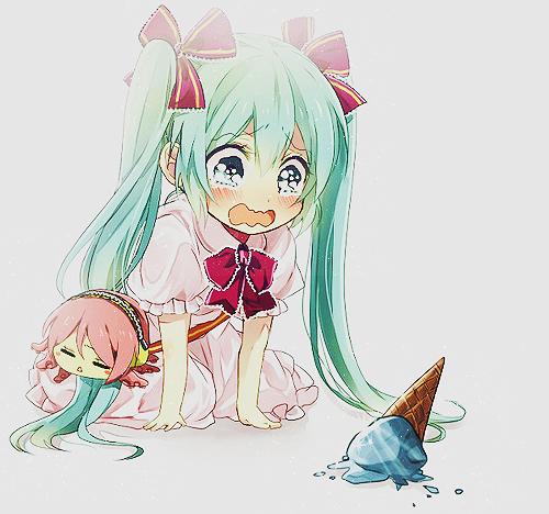 Weinende anime mädchen