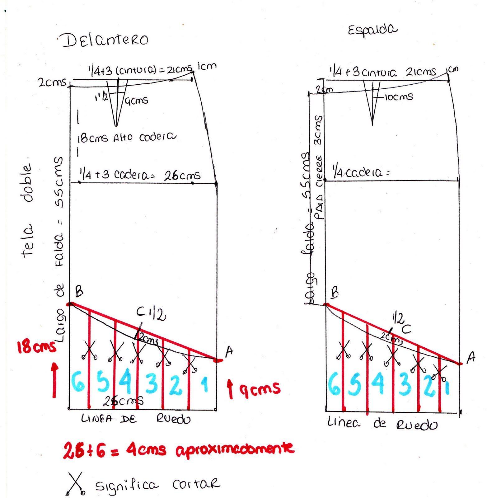 c2a147344 falda con vuelos | Patrones | Falda asimétrica, Faldas y Hacer falda