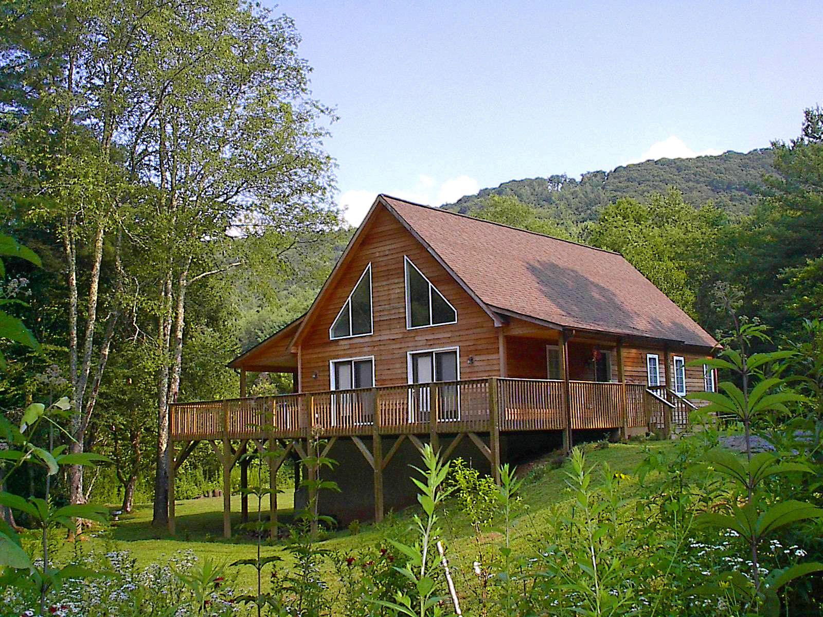 Popular Boone Modular Home Shown With Cedar Siding And