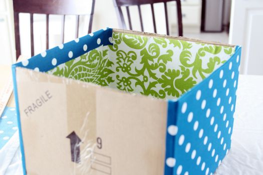 Decorative Fabric Storage Boxes Diy Fabric Bins Using Extra Cardboard Boxes  Crafts Pinterest