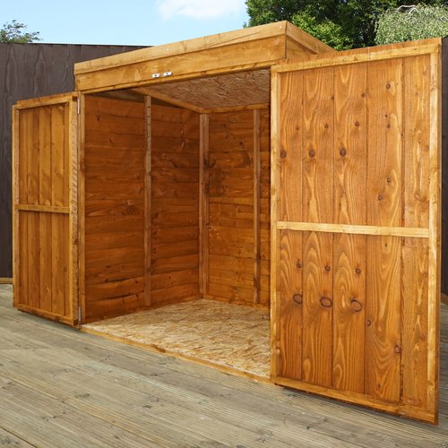 Sol 72 Outdoor Pepperell 5 Ft W X 3 Ft D Overlap Pent Wooden Shed